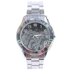 Abstract Art Decoration Design Stainless Steel Analogue Watch