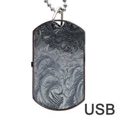 Abstract Art Decoration Design Dog Tag Usb Flash (two Sides)