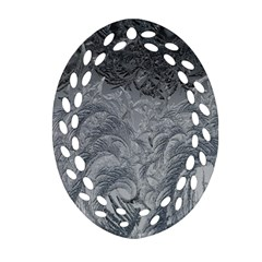 Abstract Art Decoration Design Oval Filigree Ornament (two Sides)