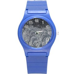 Abstract Art Decoration Design Round Plastic Sport Watch (s)