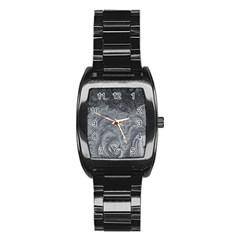 Abstract Art Decoration Design Stainless Steel Barrel Watch
