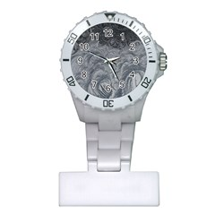 Abstract Art Decoration Design Plastic Nurses Watch