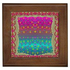 Years Of Peace Living In A Paradise Of Calm And Colors Framed Tiles