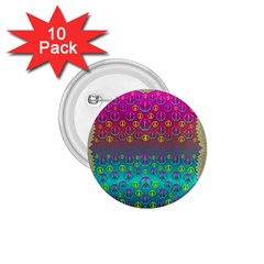 Years Of Peace Living In A Paradise Of Calm And Colors 1 75  Buttons (10 Pack)