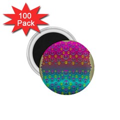 Years Of Peace Living In A Paradise Of Calm And Colors 1 75  Magnets (100 Pack)