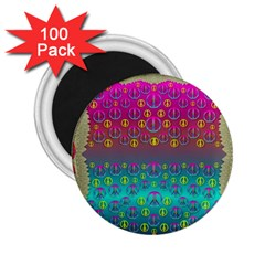 Years Of Peace Living In A Paradise Of Calm And Colors 2 25  Magnets (100 Pack)