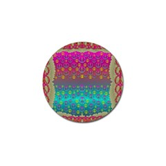 Years Of Peace Living In A Paradise Of Calm And Colors Golf Ball Marker