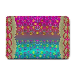 Years Of Peace Living In A Paradise Of Calm And Colors Small Doormat