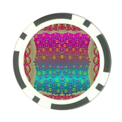 Years Of Peace Living In A Paradise Of Calm And Colors Poker Chip Card Guard