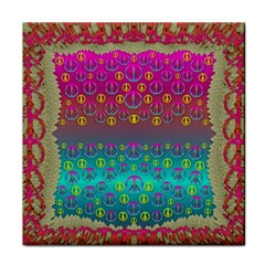 Years Of Peace Living In A Paradise Of Calm And Colors Face Towel