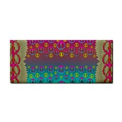 Years Of Peace Living In A Paradise Of Calm And Colors Hand Towel