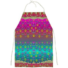 Years Of Peace Living In A Paradise Of Calm And Colors Full Print Aprons
