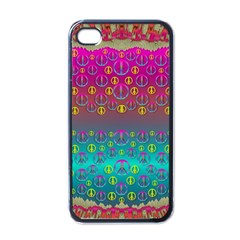 Years Of Peace Living In A Paradise Of Calm And Colors Apple Iphone 4 Case (black)