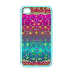 Years Of Peace Living In A Paradise Of Calm And Colors Apple Iphone 4 Case (color)