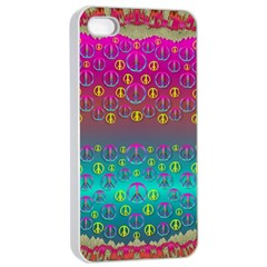 Years Of Peace Living In A Paradise Of Calm And Colors Apple Iphone 4/4s Seamless Case (white)
