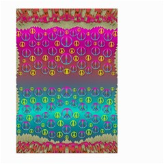Years Of Peace Living In A Paradise Of Calm And Colors Large Garden Flag (two Sides)