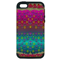 Years Of Peace Living In A Paradise Of Calm And Colors Apple Iphone 5 Hardshell Case (pc+silicone)