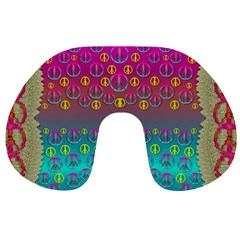 Years Of Peace Living In A Paradise Of Calm And Colors Travel Neck Pillows