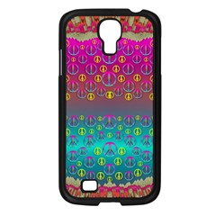 Years Of Peace Living In A Paradise Of Calm And Colors Samsung Galaxy S4 I9500/ I9505 Case (black)
