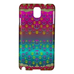 Years Of Peace Living In A Paradise Of Calm And Colors Samsung Galaxy Note 3 N9005 Hardshell Case