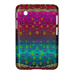 Years Of Peace Living In A Paradise Of Calm And Colors Samsung Galaxy Tab 2 (7 ) P3100 Hardshell Case