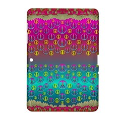 Years Of Peace Living In A Paradise Of Calm And Colors Samsung Galaxy Tab 2 (10 1 ) P5100 Hardshell Case