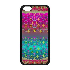 Years Of Peace Living In A Paradise Of Calm And Colors Apple Iphone 5c Seamless Case (black)