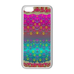 Years Of Peace Living In A Paradise Of Calm And Colors Apple Iphone 5c Seamless Case (white)