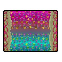 Years Of Peace Living In A Paradise Of Calm And Colors Double Sided Fleece Blanket (small)