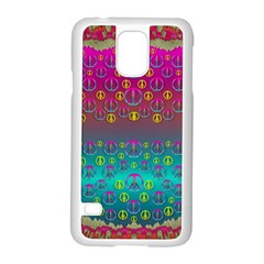 Years Of Peace Living In A Paradise Of Calm And Colors Samsung Galaxy S5 Case (white)