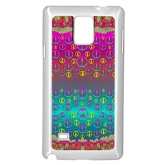 Years Of Peace Living In A Paradise Of Calm And Colors Samsung Galaxy Note 4 Case (white)