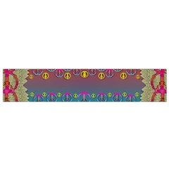 Years Of Peace Living In A Paradise Of Calm And Colors Small Flano Scarf