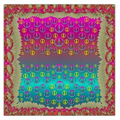 Years Of Peace Living In A Paradise Of Calm And Colors Large Satin Scarf (square)