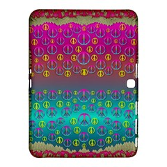 Years Of Peace Living In A Paradise Of Calm And Colors Samsung Galaxy Tab 4 (10 1 ) Hardshell Case