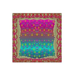 Years Of Peace Living In A Paradise Of Calm And Colors Satin Bandana Scarf