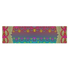 Years Of Peace Living In A Paradise Of Calm And Colors Satin Scarf (oblong)