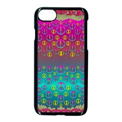 Years Of Peace Living In A Paradise Of Calm And Colors Apple Iphone 7 Seamless Case (black)