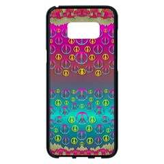 Years Of Peace Living In A Paradise Of Calm And Colors Samsung Galaxy S8 Plus Black Seamless Case