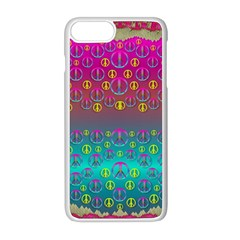 Years Of Peace Living In A Paradise Of Calm And Colors Apple Iphone 8 Plus Seamless Case (white)