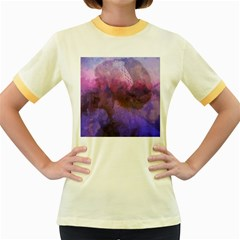 Ultra Violet Dream Girl Women s Fitted Ringer T Shirts