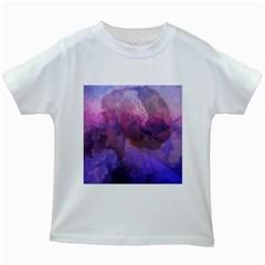 Ultra Violet Dream Girl Kids White T Shirts