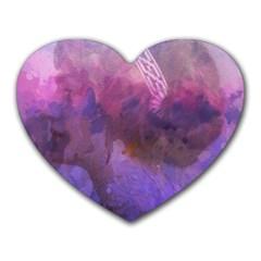 Ultra Violet Dream Girl Heart Mousepads