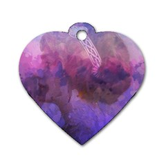 Ultra Violet Dream Girl Dog Tag Heart (two Sides)