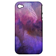 Ultra Violet Dream Girl Apple Iphone 4/4s Hardshell Case (pc+silicone)