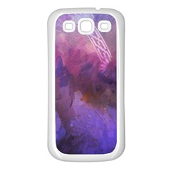 Ultra Violet Dream Girl Samsung Galaxy S3 Back Case (white)