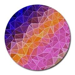 Crystalized Rainbow Round Mousepads