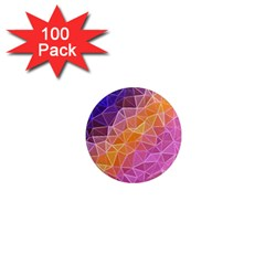 Crystalized Rainbow 1  Mini Magnets (100 Pack)