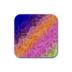 Crystalized Rainbow Rubber Coaster (square)