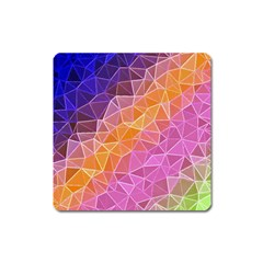 Crystalized Rainbow Square Magnet