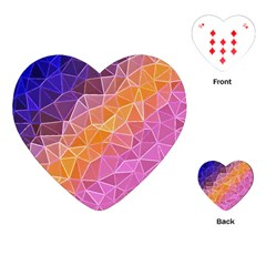 Crystalized Rainbow Playing Cards (heart)